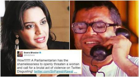 Swara Bhaskar's tweets on Paresh Rawal stir fresh controversy on Twitter, Facebook
