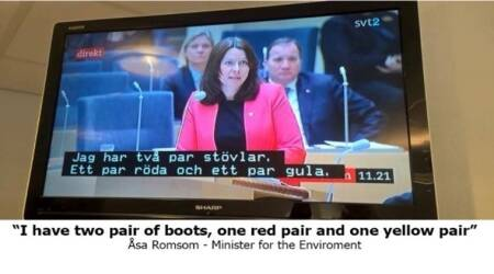 Swedish TV plays subtitles from a kid's show in a political debate, and the results are hilarious