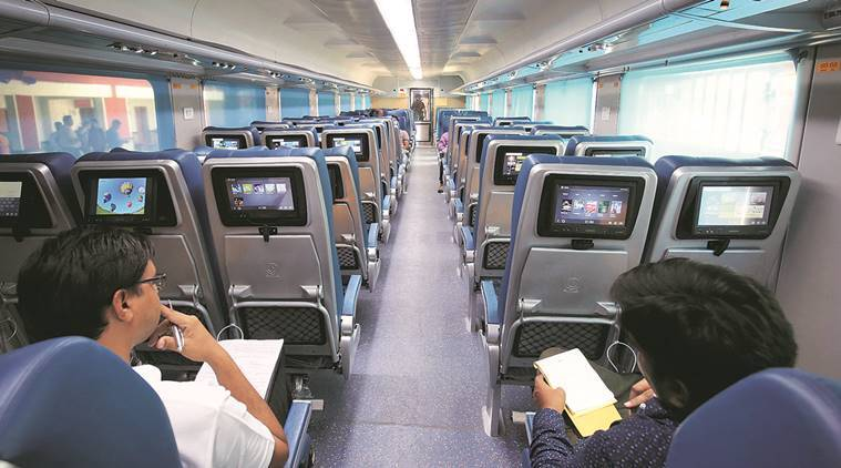 Prabhu inspects Tejas Express before it zips from Mumbai to Goa