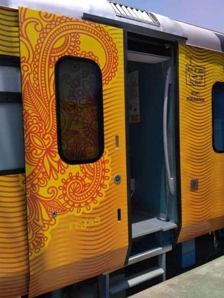 tejas express, tejas express luxury, Tejas train, tejas train photo, mumbai goa travel, train travel india, indian railway travel, indian express, indian express news