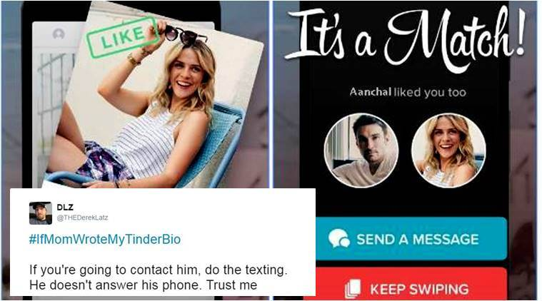 tinder, tinder bio, tinder profile bio, parents tinder, parents dating apps, mom wrote tinder bio, tinder bio by mother, tinder profile description, funny news, social media, twitter trend, indian express