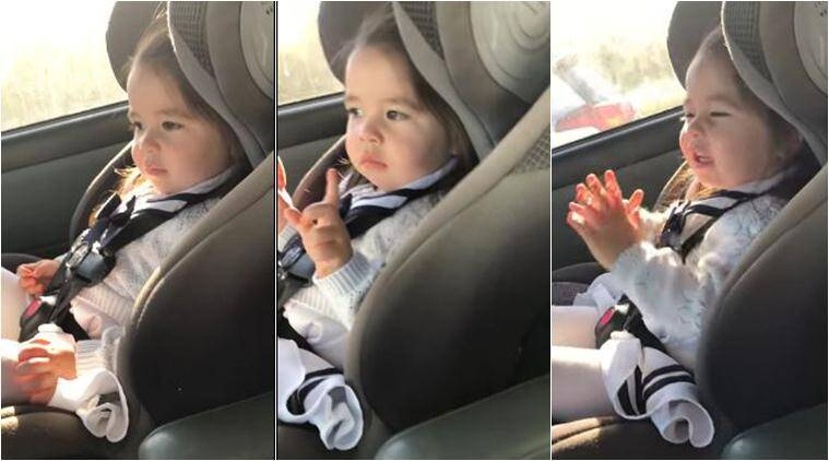 WATCH: Little girl patiently waits for the beat to drop as she ...