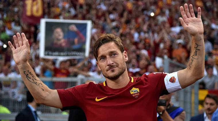 francesco totti, totti, totti farewell, as roma, roma, totti roma, football, sports news, indian express