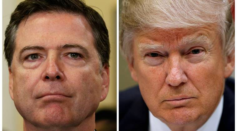 James Comey, FBI Director, FBI director Comey, James Comey fired, Trump fires Comey, James comey sacked, US president, Donald Trump, US news, indian express news