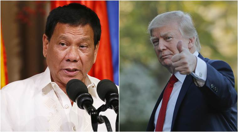 US President Donald Trump, Donald Trump, US President Trump, Philippines President, Rodrigo Duterte, US nuclear submarines, Korean waters, Trump-Duterte, US news, Indian Express, Latest news, World news, International news, International news, Trump news