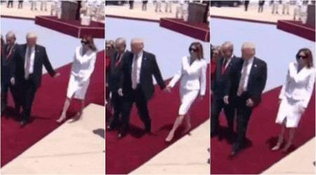 Watch: Melania Trump swats away Donald Trump's hand when he tries to hold it at tarmac in Israel