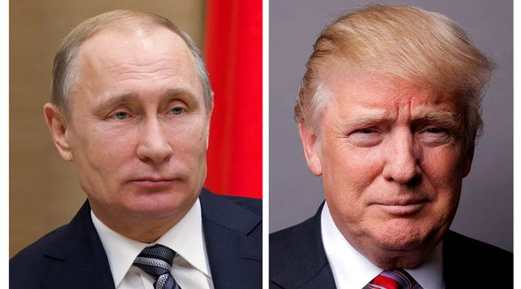 Donald Trump, Trump, US President Donald Trump, Trump Russia, Vladimir Putin, Putin, Putin Trump, Trump leaks information to Russia, US Russia, Kremlin, ISIS, US news, Indian Express, World news