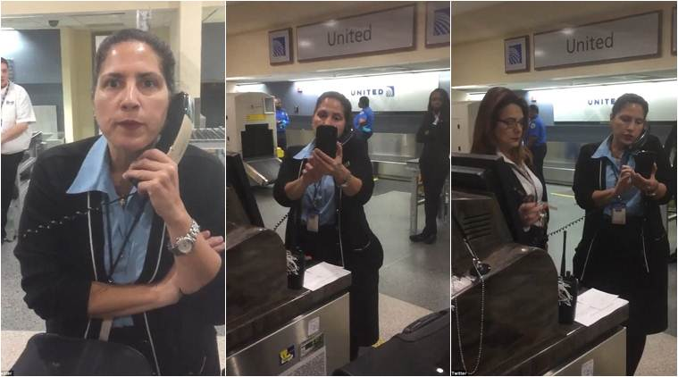 united airlines, united airlines complaint, united airline passenger complaint, united airlines agent cancel flight, united airlines viral video, viral videos, usa news, world news, latest news, indian express