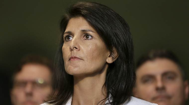 Nikki Haley, Haley, US ambassador to UN, Haley overseas visit, Trump travel ban, world news, latest news, indian express