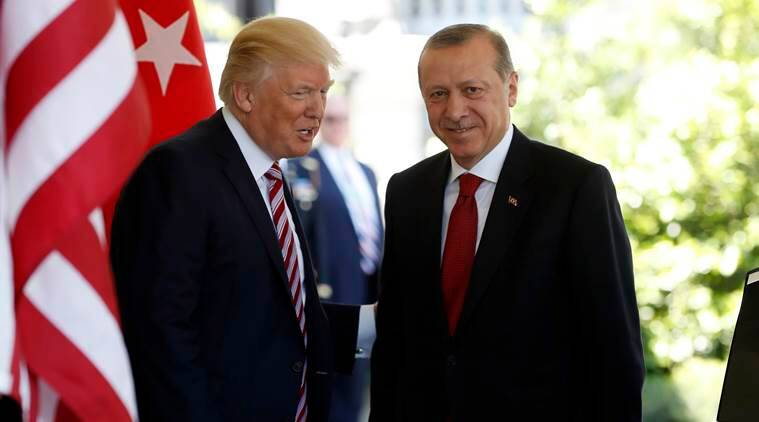 Donald Trump, recep Tayyip Erdogan, Turkey sanctions, US-Turkey, US to impose sanctions on Turkey, US Turkey relations, 2016 militarycoup in turkey, World News, Indian Express