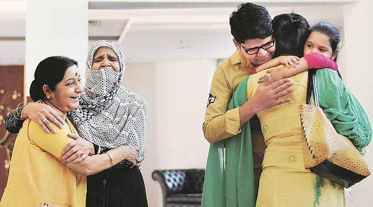 Indian Woman Forced to Marry in Pak Returns Home : Swaraj
