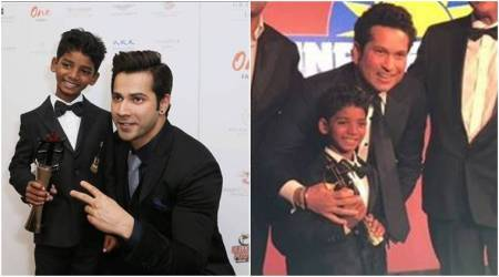 From Varun Dhawan to Sachin Tendulkar, everyone wanted to get clicked with Sunny Pawar at the Asian Awards
