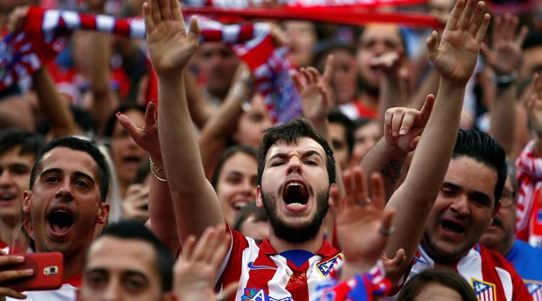 Vicente Calderon, atletico madrid, atletico, atletico stadium, atletico fans, ronaldinho, football, sports news, indian express