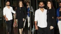 Virat Kohli-Anushka Sharma go classic in monochrome at Zaheer Khan-Sagarika Ghatge engagement