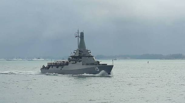 Indian Navy participates in the International Maritime Review at Singapore