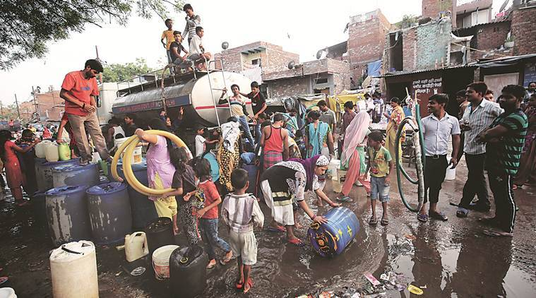 delhi, delhi water crisis, delhi water shortage, delhi summer, delhi jal board, dda, delhi land pooling policy, delhi government, aap government, delhi water sources,groundwater consumption, delhi urban development, delhi news, latest news