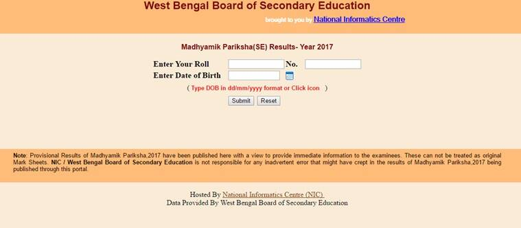 madhyamik result 2017, www.wbresults.nic.in, madhyamik result, wbbse, wb 10 result 2017, www.wbbse.org, 10 class result, madhaymik result, education news, west bengal news, indian express