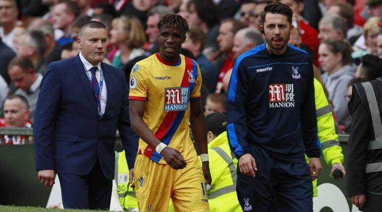 Image result for Wilfried Zaha signs five-year contract extension at Crystal Palace,