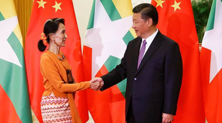 China Myanmar, Xi Jinping, Aung San Suu Kyi, Jinping Aung San Suu Kyi meet, China Myanmar ties, Myanmar peace, China myanmar border security, World news, Indian Express