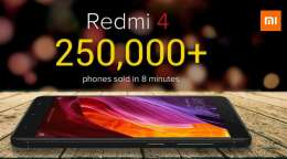 Xiaomi Redmi 4 first sale: Over 2.5 lakh units sold in 8 minutes