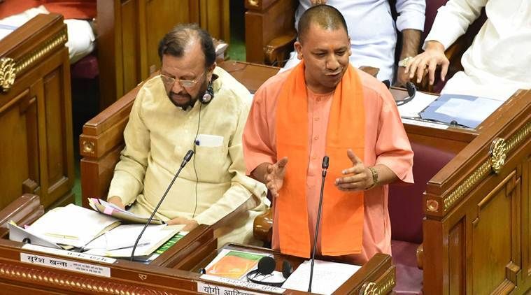 Yogi Adityanath, UP CM Yogi Adityanath, UP floods, UP Assembly, India news, Indian Express news