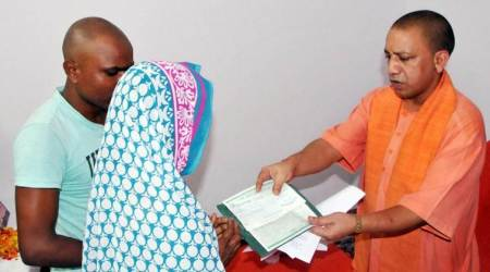 Sofa, AC installed for Yogi Adityanath's visit to martyr's family, removed after he left