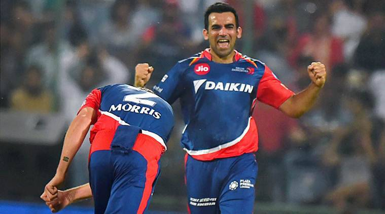 IPL 2017, IPL 2017 news, IPL 2017 updates, Zaheer Khan, Zaheer Khan news, Zaheer Khan updates, Zaheer Khan injury, Zaheer Khan wickets, Delhi Daredevils, sports news, sports, cricket news, Cricket, Indian Express