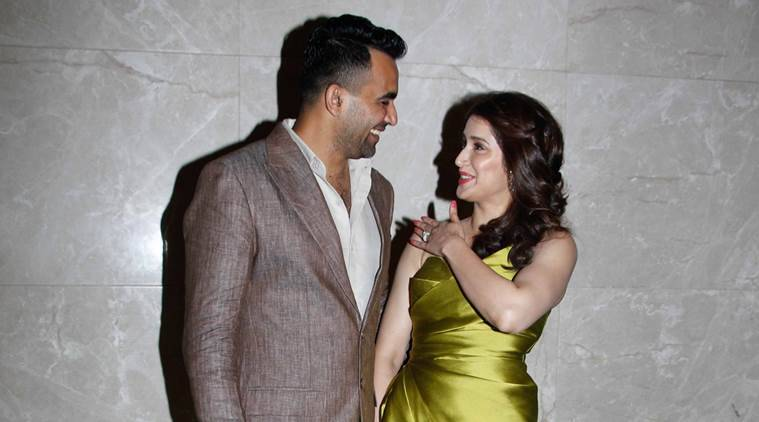 Zaheer Khan, Zaheer Khan Sagarika Ghatge, Zaheer Khan engagement, Zaheer Khan Sagarike Ghatge engagement, Virat Kohli, Anushka Sharma, Sachin Tendulkar, sports news, sports, cricket new, Cricket, Indian Express