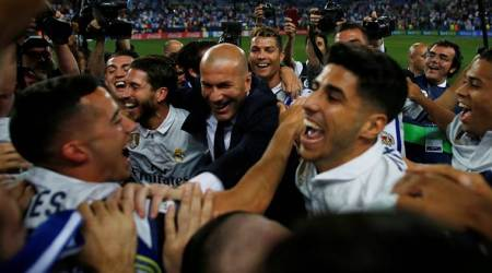 Zinedine Zidane, Zidane, Real Madrid, Madrid, Real, La Liga title, Cristiano Ronaldo, Ronaldo, football, sports news, Indian Express