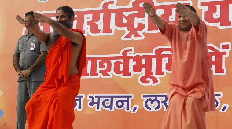ramdev, yoga day celebrations, india news, indian express news