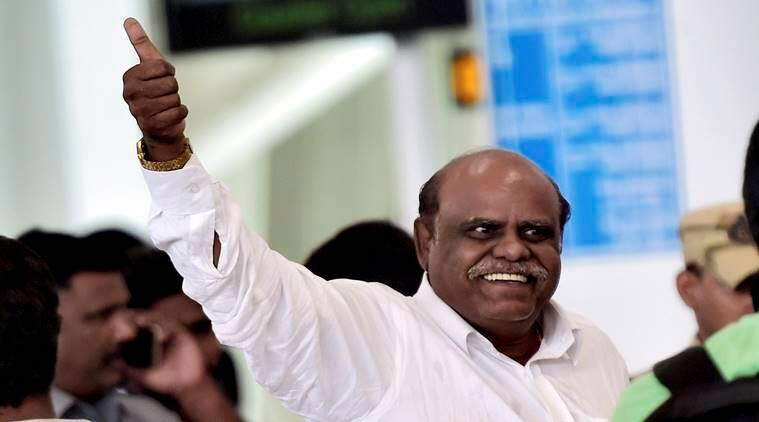 Justice Karnan, CS Karnan hospitalized, CS Karnan SSKM hospital, Karnan health recovery, Indian express, India news