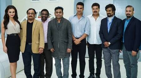 2.0, rajinikanth, akshay kumar, 2.0 shankar movie promotions, 2.0 rajinikanth hot air balloon, 2.0 akshay kumar hot air balloon,