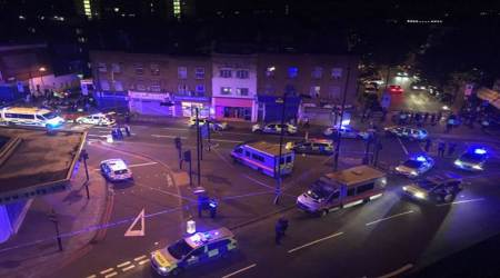 Police deployed near Finsbury Park Mosque after van rams into worshippers