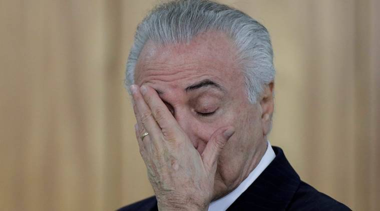 Michel Temer Corruption charges, Michel Temer steps down, Michel Temer corruption charges, Indian express, India news, latest news, World News