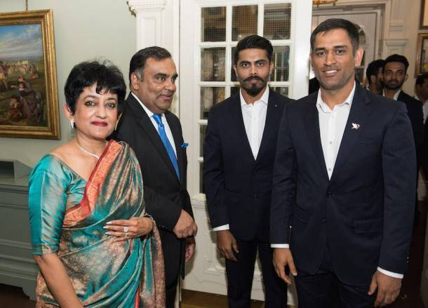 virat kohli, mahendra singh dhoni, dhoni, yuvraj singh, rohit sharma, shikhar dhawan, anil kumble, indian high commission, london, cricket, indian express
