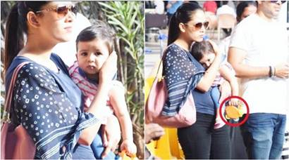 Shahid Kapoor's baby girl Misha Kapoor is in mommy Mira Rajput's arms but won't let go of her toy