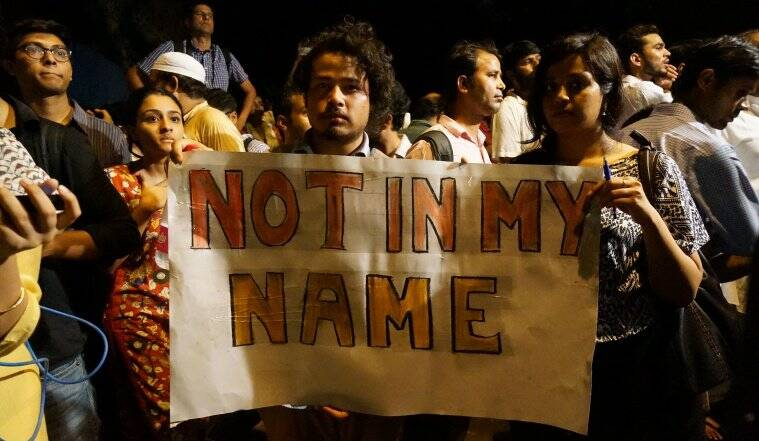 not in my name delhi, protest, march