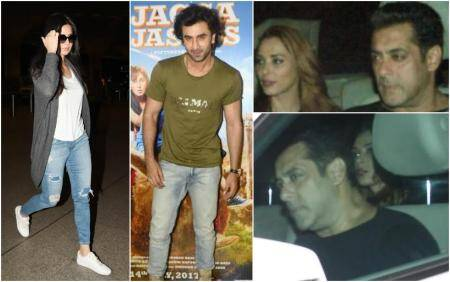 Salman Khan attended Tubelight special screening with Iulia Vantur, Katrina Kaif ditches Ranbir Kapoor at Jagga Jasoos promotions