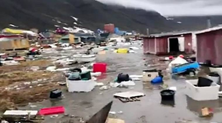 Four people missing after flooding in remote Greenland village