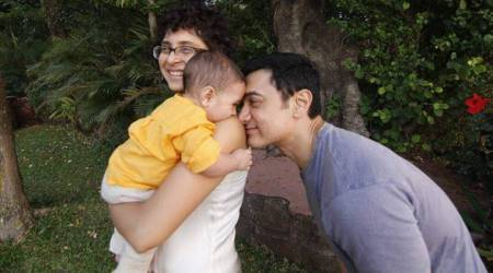 Aamir Khan's super dad moment with Azad Rao Khan, wife Kiran Rao is for the family album, see photo