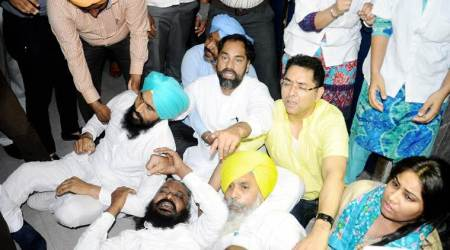 Punjab Assembly: SAD-BJP, AAP join hands as marshals evict legislators