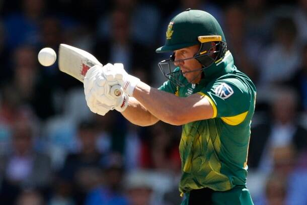 South Africa's AB De Villiers in action