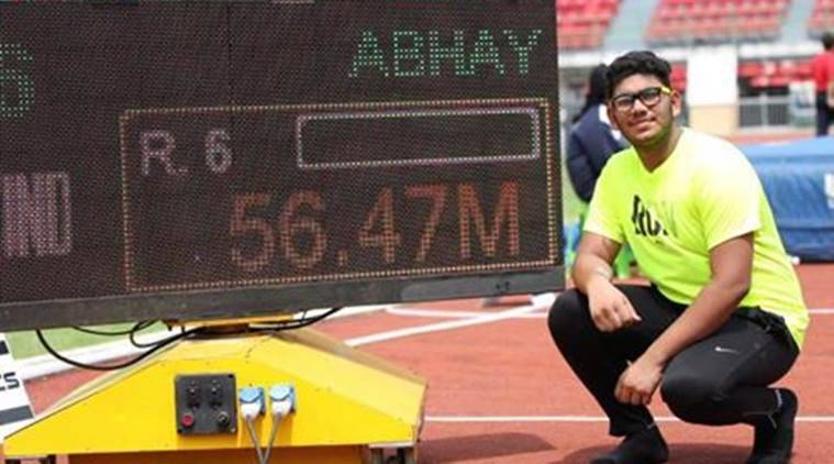 Discus thrower, india athletics, abhay gupta, Asian Youth Championships, athletics news, latest news, indian express sports