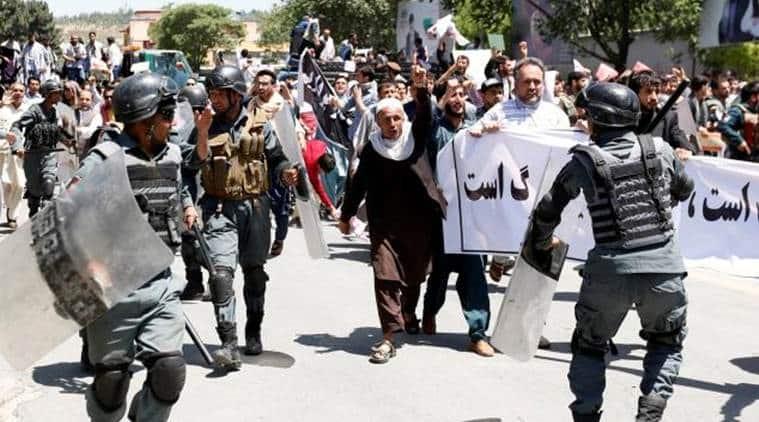 afghanistan protests, afghanistan bombing, kabul bombing, afghanistan news, latest news, indian express