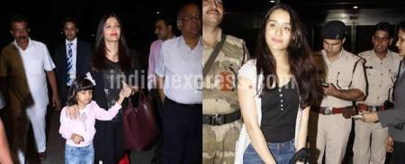 Aishwarya Rai Bachchan travels with daughter Aradhya, Shraddha Kapoor looks uber cool at the airport