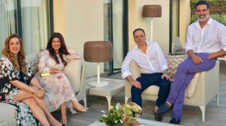 Akshay Kumar, Twinkle Khanna make a million stories during vacation. See photos to know what they're up to