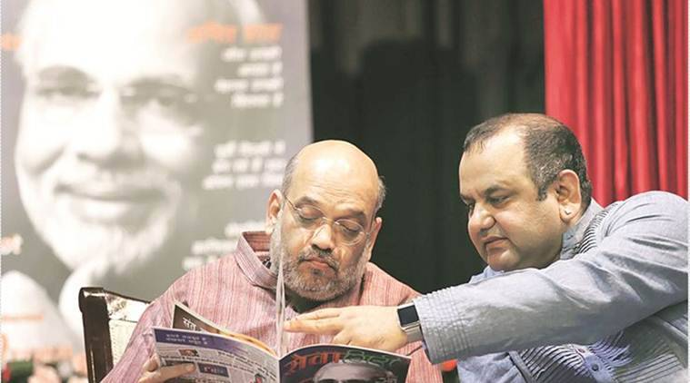 Amit Shah, Maheish Girri, Indian Express, Indian Express News
