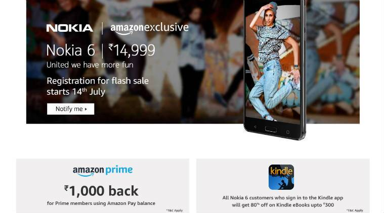 Nokia 6, Nokia 6 Amazon offers, Nokia 6 India price, Nokia, Nokia 6 sale
