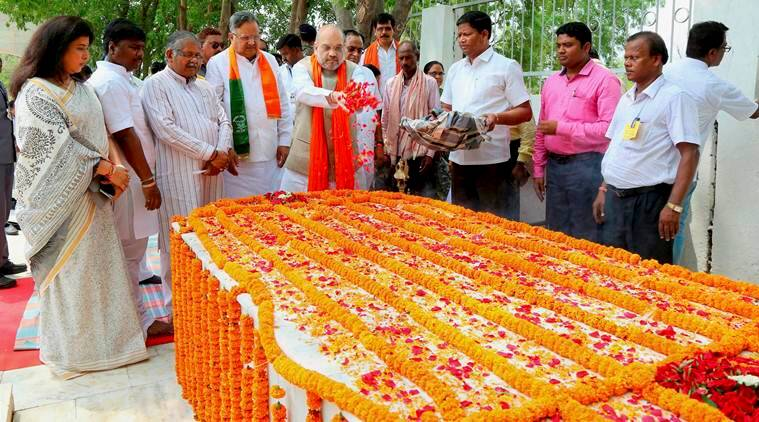 amit shah, chhattisgarh satnami pilgrimage visit, india news, indian express news