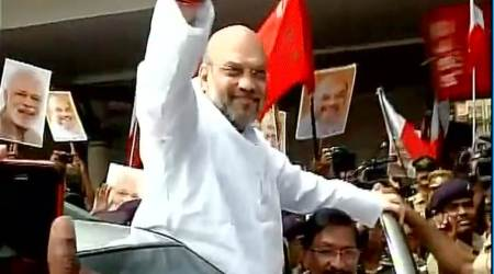 Vehicle in Amit Shah's convoy hits cow in Odisha, BJD takes a dig at BJP chief